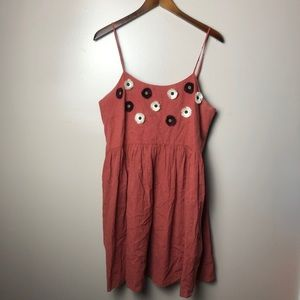 Madewell Embroidered Spiced Rose Floral Dress Larg